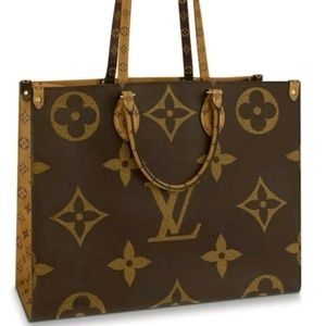 Monogram Giant OnTheGo Tote Reverse Canvas Brown